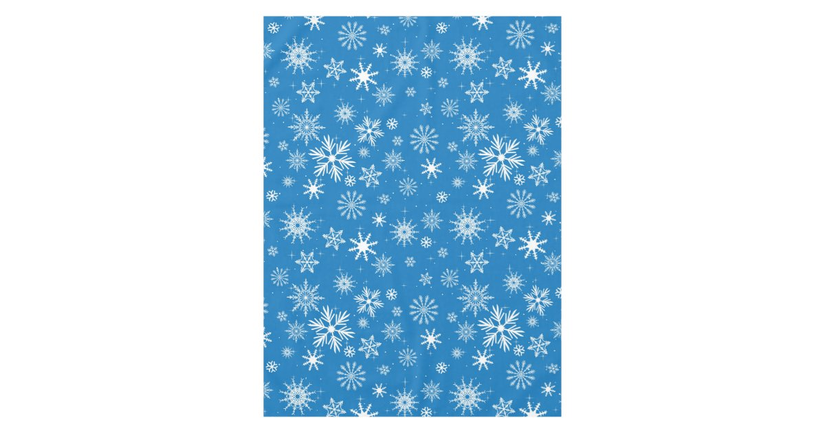 Blue Snowflake Christmas Design Tablecloth Zazzle