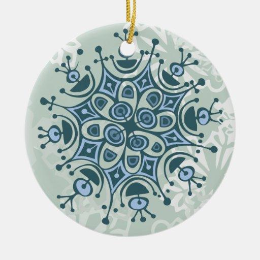 Blue Snowflake Christmas Tree Ornaments