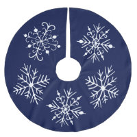 Blue Snowflake Christmas Tree Skirt