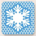 Blue Snowflake Coaster Set