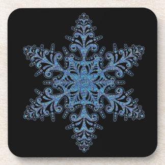 Blue Snowflake Coasters