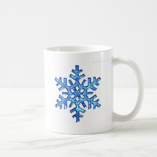 blue-snowflake coffee mug