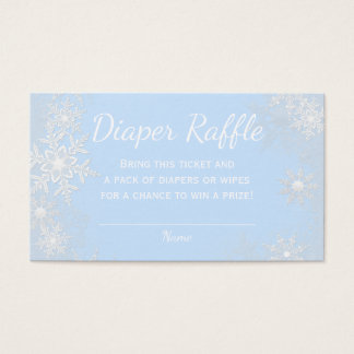 Blue Snowflake Diaper Raffle Tickets