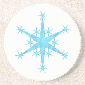 Blue Snowflake Drink Coaster