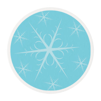 Blue Snowflake Edible Frosting Edible Frosting Rounds