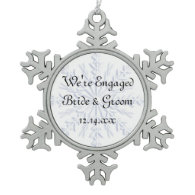 Blue Snowflake Engagement Ornament