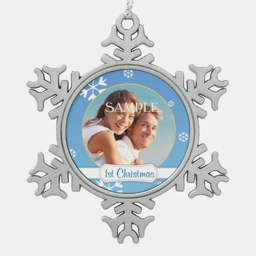 Christmas Snowflake Ornament Template Blue snowflake first christmas ...