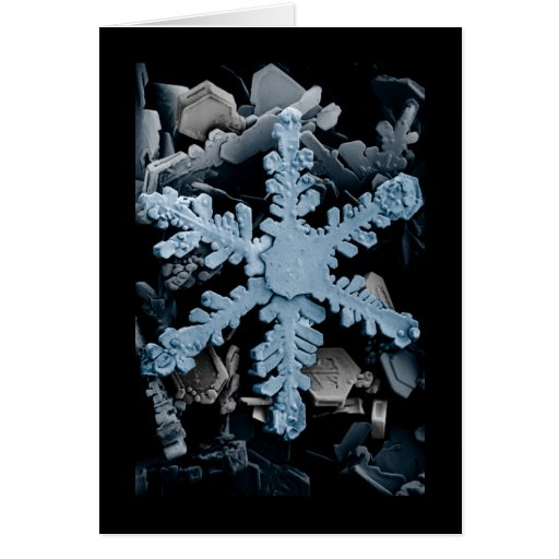 Blue Snowflake Greeting Cards
