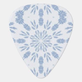 Blue Snowflake Guitar Pick