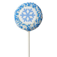 Blue Snowflake Holiday Oreo Cookie Pops