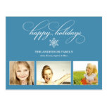 BLUE SNOWFLAKE | HOLIDAY PHOTO CARD POST CARDS