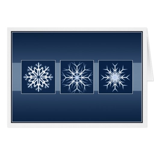 Blue Snowflake Holidays Greeting Cards