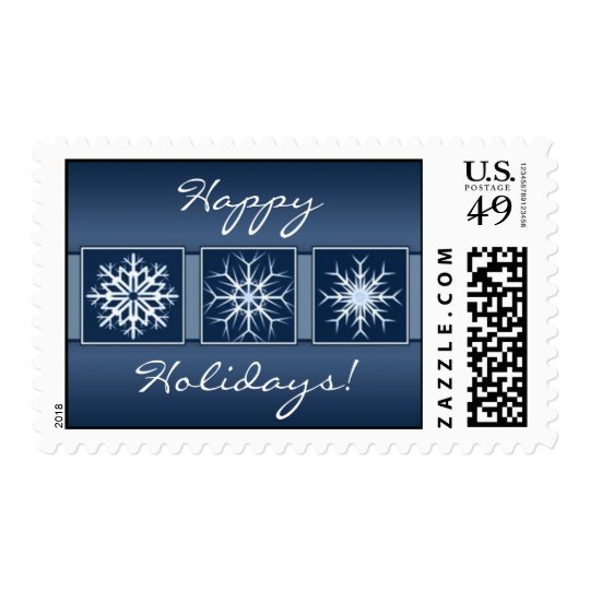 Blue Snowflake Holidays Stamp