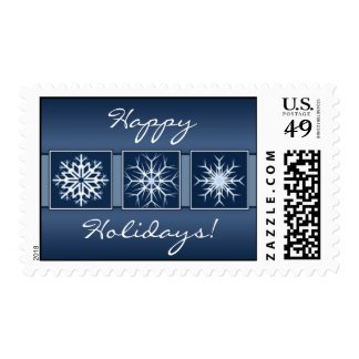 Blue Snowflake Holidays Stamp