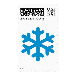 Blue snowflake icon stamp