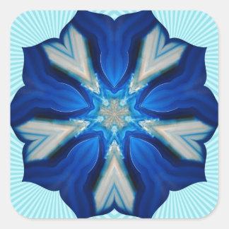 Blue Snowflake in Spring! Square Sticker