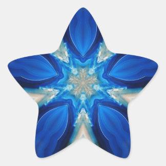 Blue Snowflake in Spring! Star Sticker