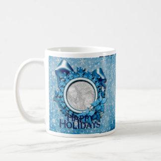 Blue Snowflake INSERT YOUR PHOTO Mug