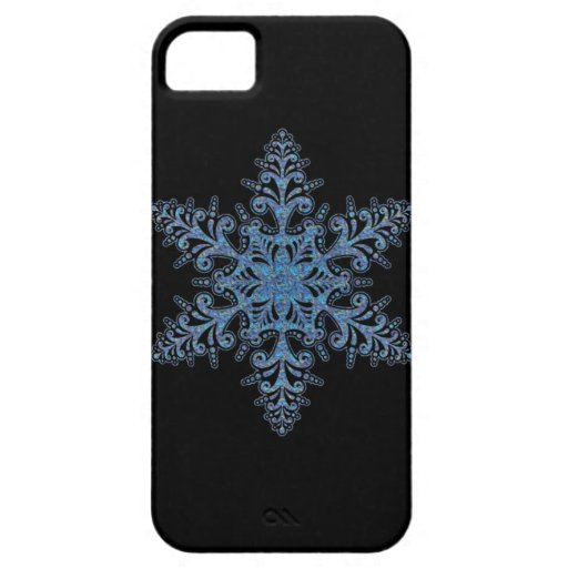 Blue Snowflake iPhone 5G Case