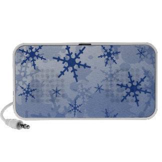 Blue Snowflake iPhone Speaker