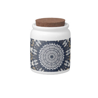 Blue Snowflake Kaleidoscope Candy Jars