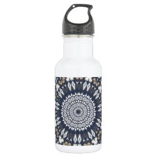Blue Snowflake Kaleidoscope 18oz Water Bottle