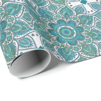 Blue Snowflake Multiple Products Wrapping Paper