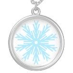 Blue Snowflake necklace
