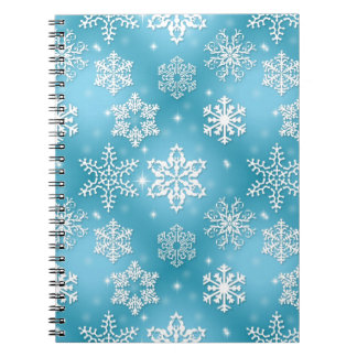 Blue Snowflake Notebook