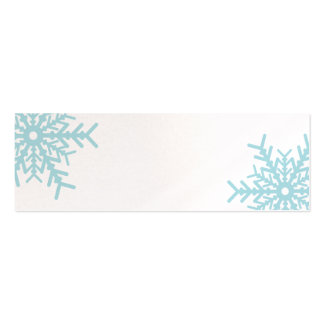 Blue Snowflake on White Gift Tags Mini Business Card
