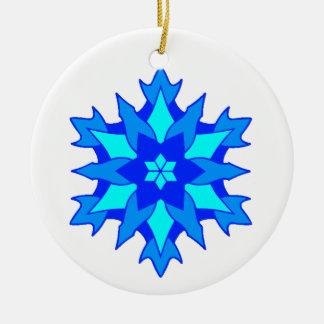 Blue Snowflake Christmas Ornaments