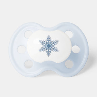 Blue Snowflake Pacifier
