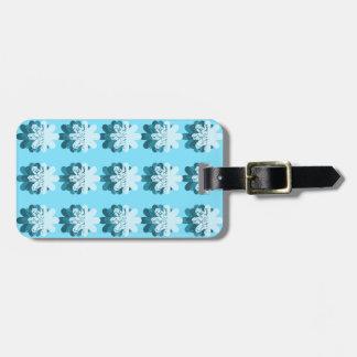 Blue Snowflake Pattern Bag Tag