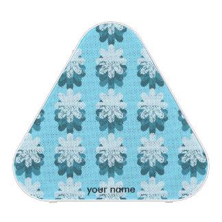 Blue Snowflake Pattern Speaker