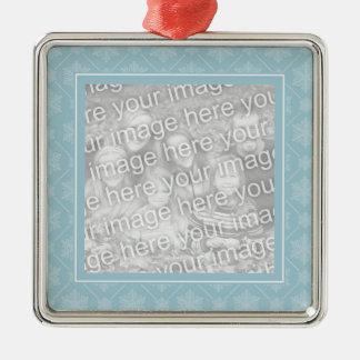 Blue Snowflake Pattern Snowflake Ornament