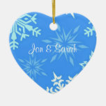 Blue Snowflake Personalized Christmas Tree Ornament