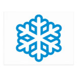 Blue snowflake post cards