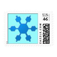 Blue Snowflake Postage stamp
