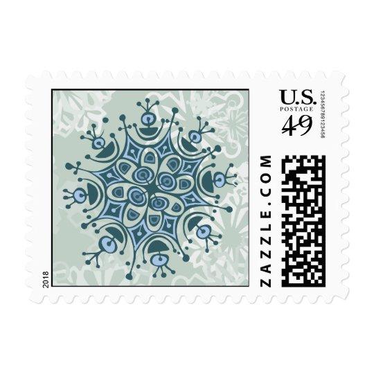Blue Snowflake Postage