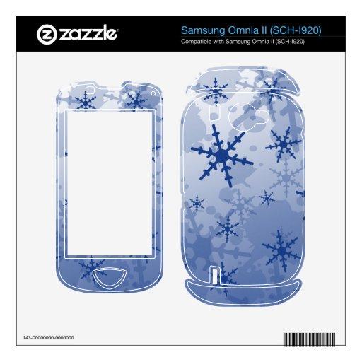 Blue Snowflake Samsung Omnia II Decals