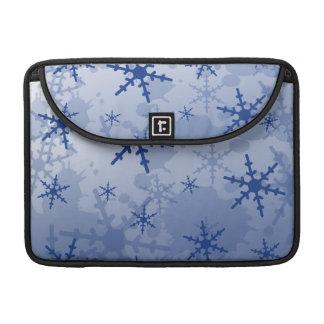 Blue Snowflake Sleeves For MacBook Pro