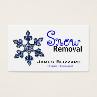 Blue Snowflake Snow Removal Service Business Cards