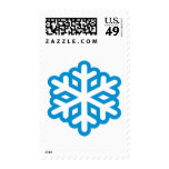 Blue snowflake stamp