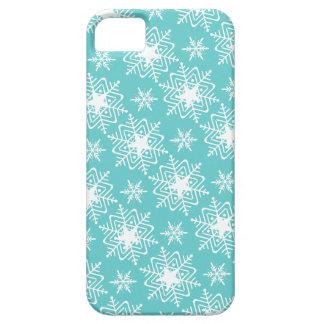 Blue snowflake star iPhone SE/5/5s case