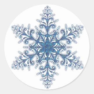 Blue Snowflake Stickers