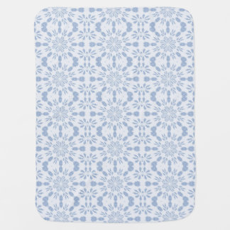 Blue Snowflake Stroller Blanket