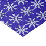 Blue Snowflake Tissue Paper