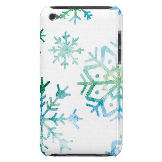 Blue Snowflake Watercolor Art iPod Touch Case-Mate Case
