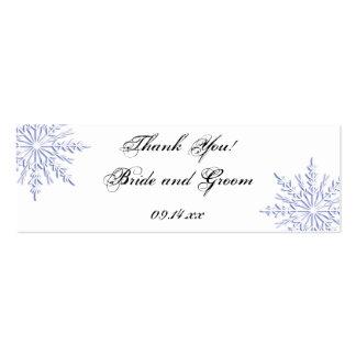 Blue Snowflake Wedding Favor Tags Mini Business Card
