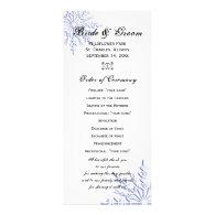 Blue Snowflake Winter Wedding Program Full Color Rack Card